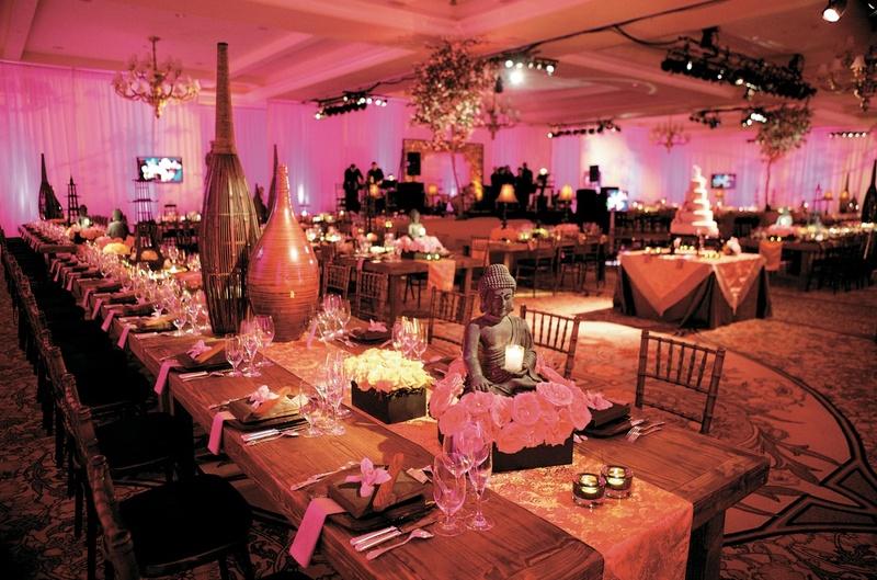 Reception Dcor Photos Asian Themed Table Inside Weddings