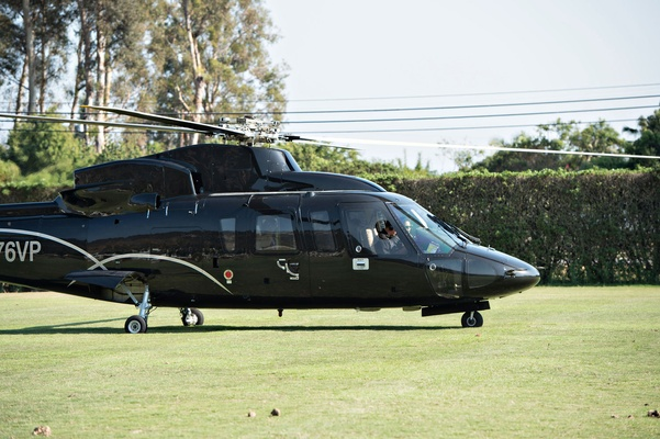 Santa Barbara helicopter vow renewal wedding transportation idea