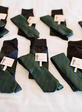 Blue and Green Ralph Lauren socks and ties