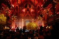 Wedding reception at Angel Orensanz Foundation for the Arts with red lighting