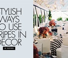 Stylish ways to use stripes in your wedding decor