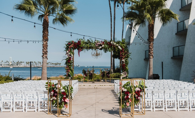 Ocean-View Ceremony Featuring Modern Décor with a Tropical Twist