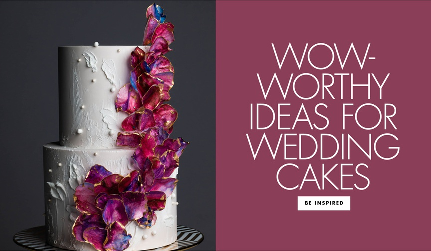 View artful wedding cakes that will inspire your own confection.