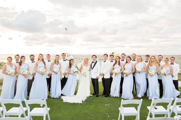 Seaside Island Destination Wedding with Blue & White Décor ...