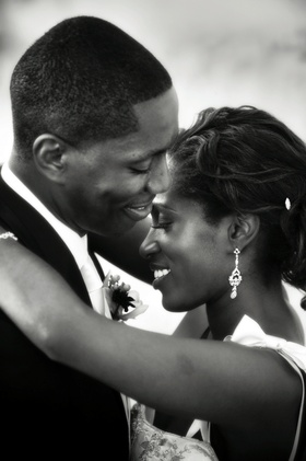 Black and white photo of African American couple