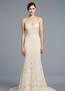 Anne Barge Spring 2018 bridal collection Kennedy wedding dress lace chiffon sheath gown