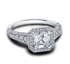 (0.78 ttl) A wearable work of art. The Heather Engagement Ring has it all. A heady blend of precisel