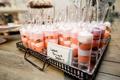unique wedding dessert ideas, pink lemon meringue shooters