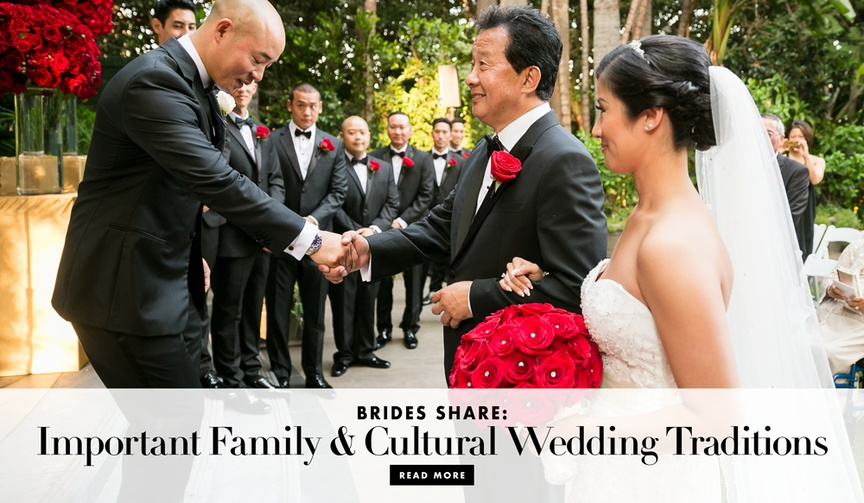 Brides share important cultural and family wedding traditions