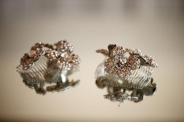 Courtney Mazza's bridal hair accessories