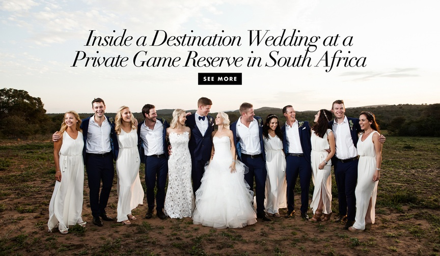 Destination wedding at private game reserve in South Africa