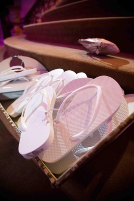 Wedding reception white sandals for dancing