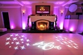Dance floor with purple lights and stars