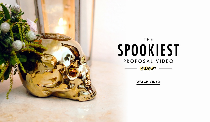 Scary Halloween marriage proposal video