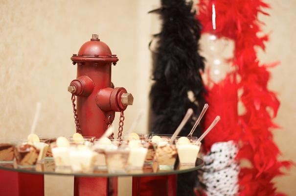 Fire fighter groom cake dessert wedding display