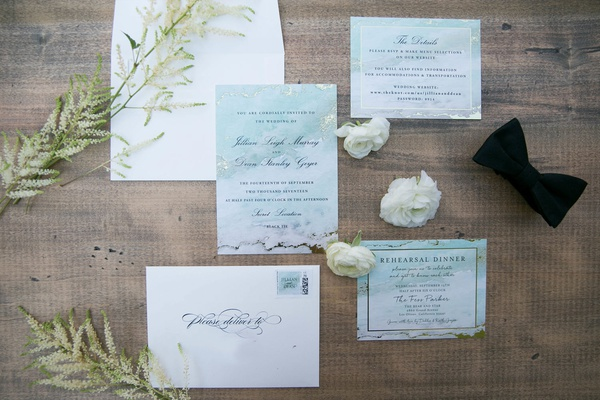 Minted wedding invitations jillian murray and dean geyer watercolor green design seafoam
