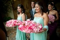 Turquoise celadon strapless Indian dresses