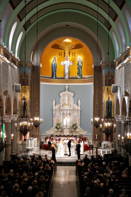 catholic wedding ceremony church where bride's parents got married years earlier