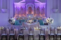 Purple and blue hues for this Vibiana wedding
