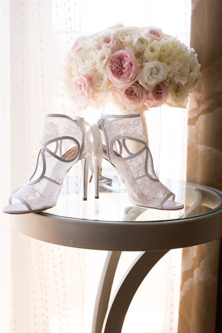 aquazarra bridal shoes with lace white mesh and silver details