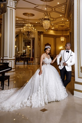 Shannon Perkins Whitehead and Tahir Whitehead wedding at The Legacy Castle bride in randy fenoli