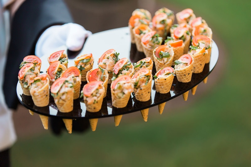 Food Drink Photos Cone Appetizers On Tray Inside Weddings