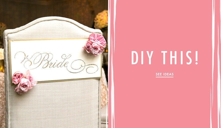 Wedding DIY projects that are easy and not stressful