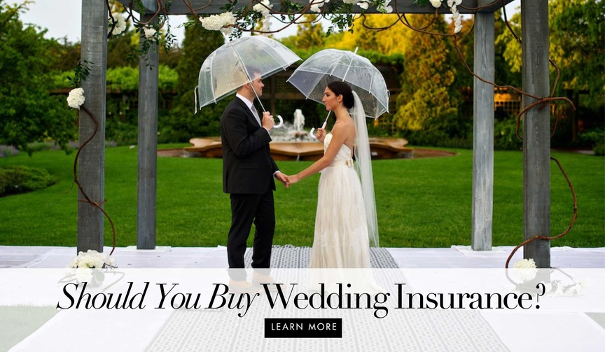 Why you should buy wedding insurance to be protected