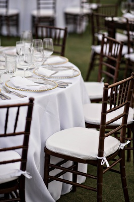 dark brown wooden chiavari chairs for wedding reception