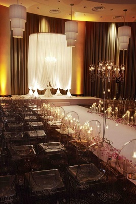 Chicago Jewish wedding ceremony with white chuppah