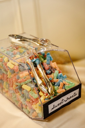 sour patch kids at wedding dessert table, wedding sweets table, wedding candy bar