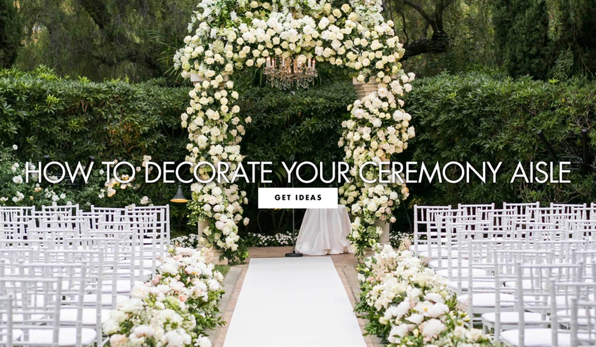 how to decorate your ceremony aisle wedding decoration ideas
