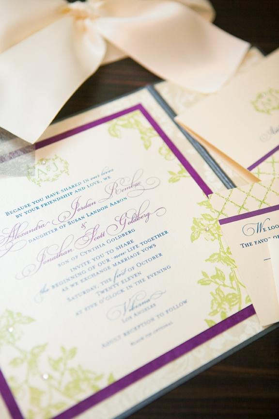Invitations & More Photos - Colorful Wedding Invitation - Inside ...