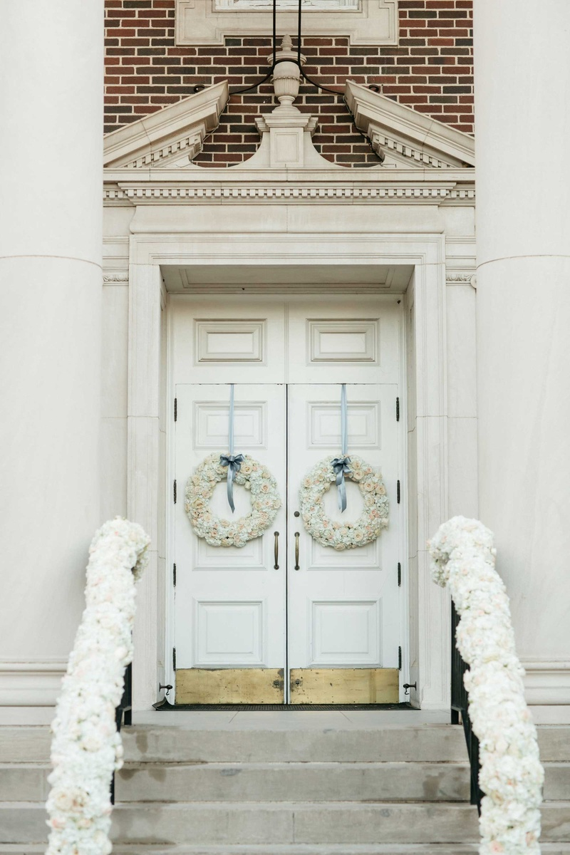 Ceremony Décor Photos - Garland & Wreath Church Decorations - Inside ...