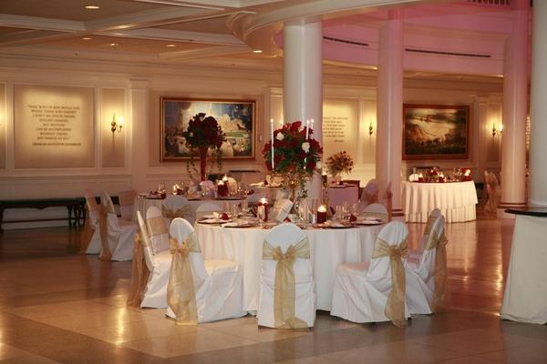 Epcot American Adventure Rotunda wedding reception