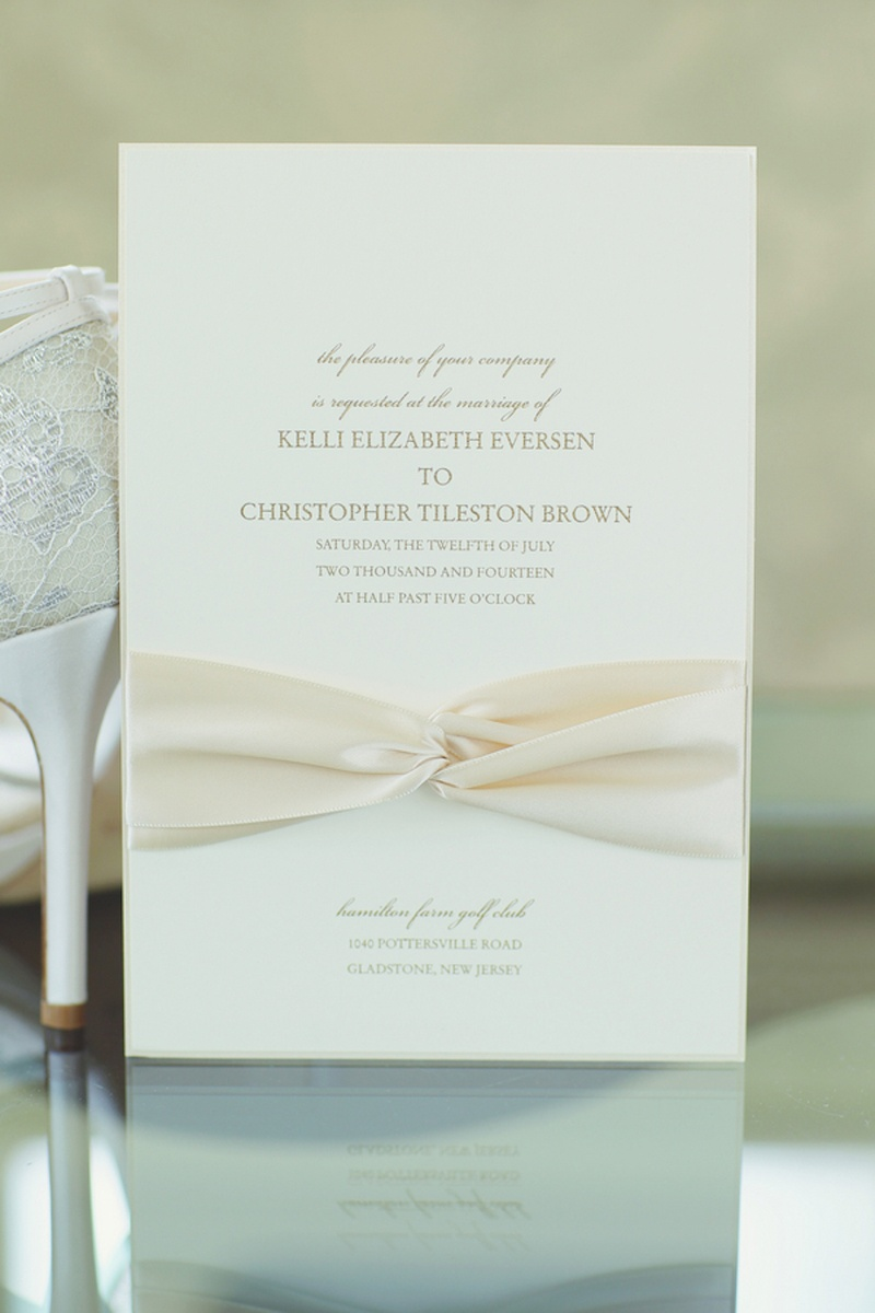 Invitations more photos ribbon tied wedding invitation inside simple invite with ivory ribbon and gold lettering stopboris