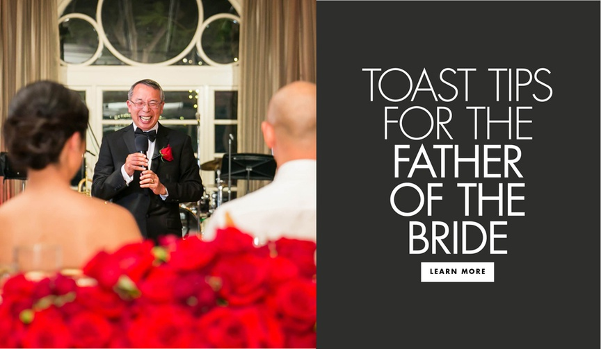 Toast tips for the father of the bride how to give a father of the bride toast