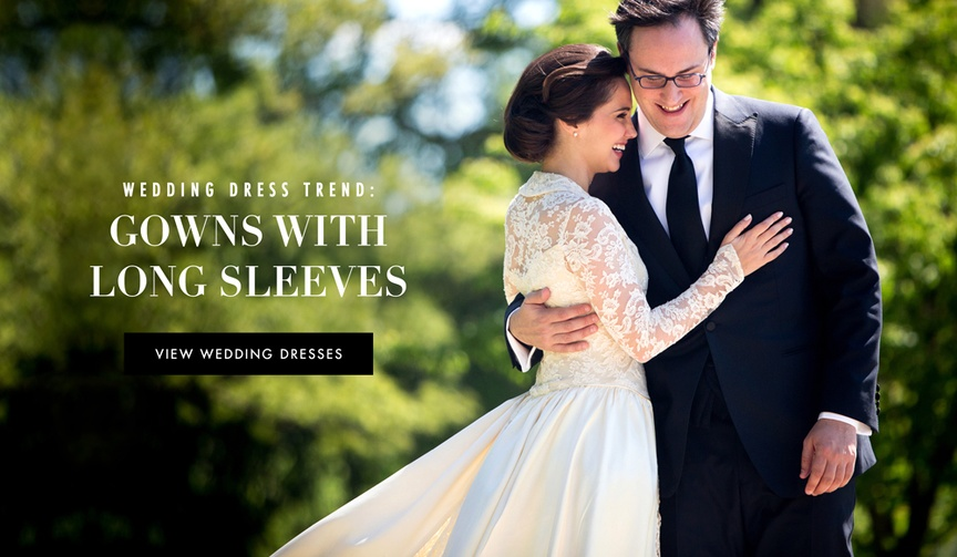 Long sleeved wedding dresses worn by real brides