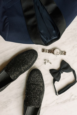 la rams brandin cooks wedding outfit, jimmy choo thame Black Coarse Glitter Fabric Slipper