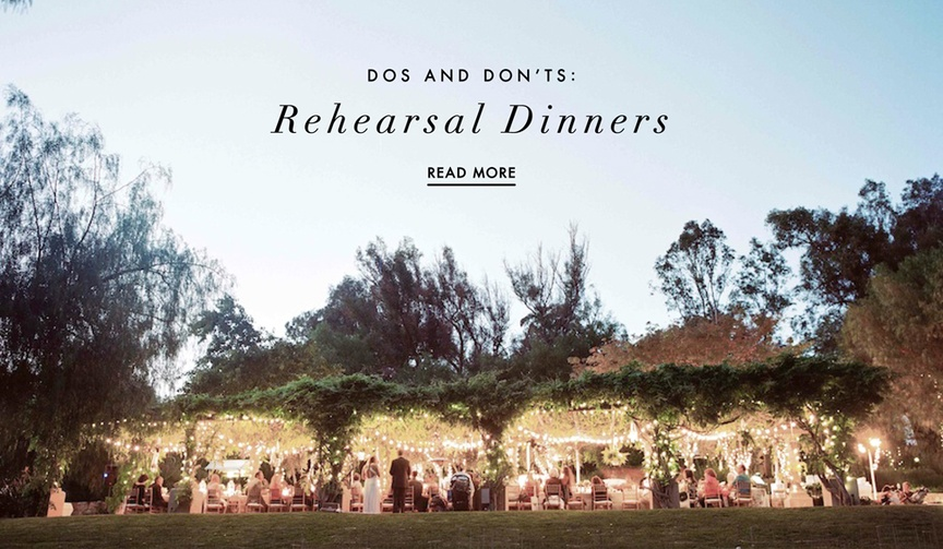 the dos and don'ts of planning a rehearsal dinner before your wedding