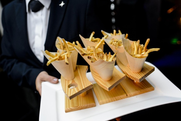 Paper cones filled with French fries