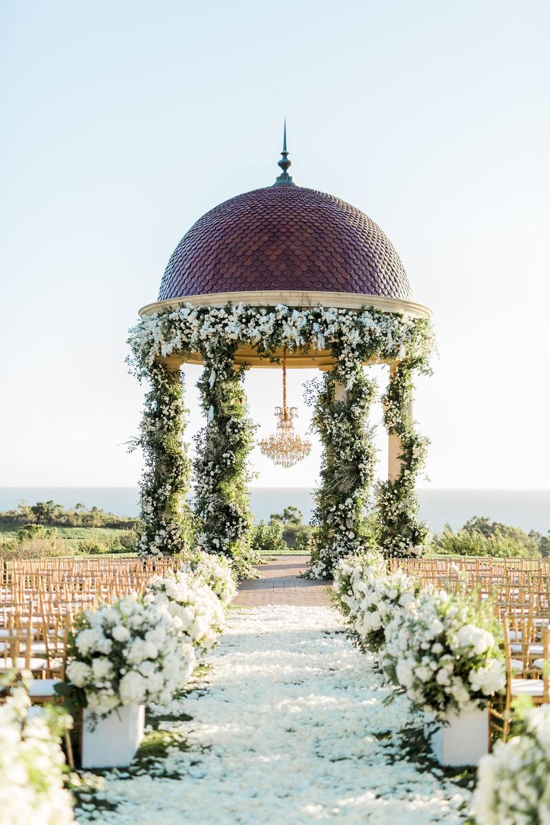 Houston Astros mlb player george springer iii charlise castro wedding ceremony pelican hill rotunda