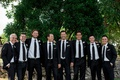 Pro Golfer 2017 Masters Tournament winner PGA tour Sergio Garcia and his groomsmen ties suits