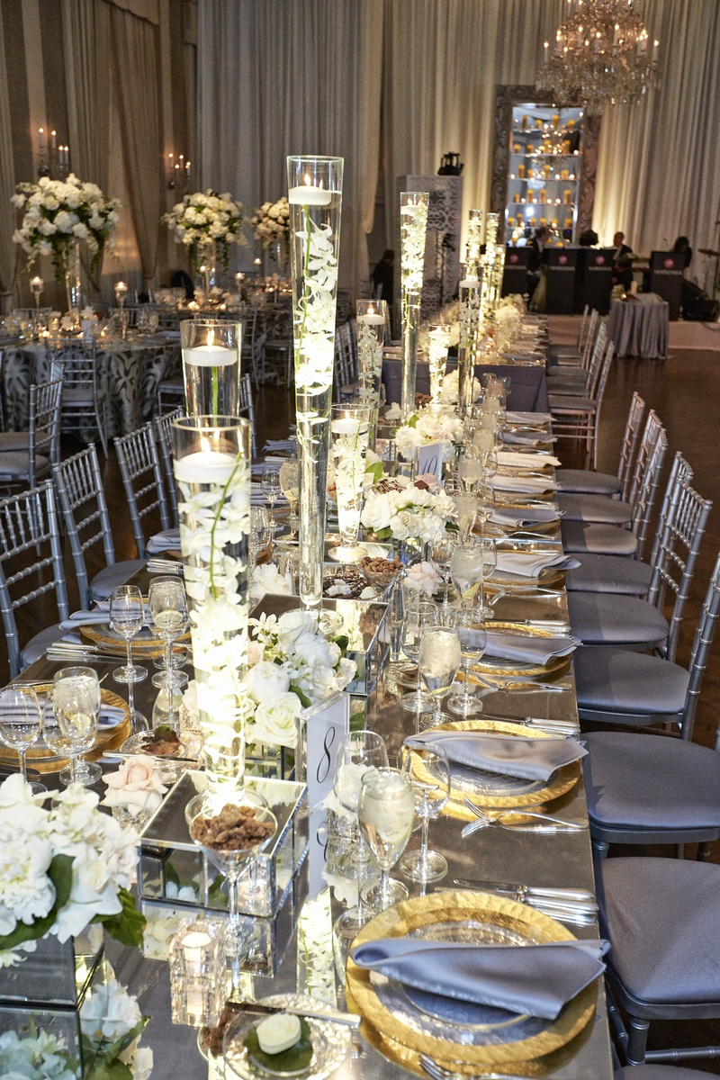 Reception Decor Photos Submerged Orchid Centerpieces Inside Weddings