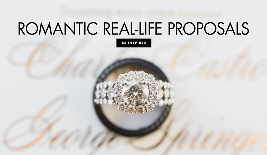 Romantic real life proposals real proposal stories brides share about their future husbands