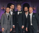Famous boy band singers at Nick Carter's reception