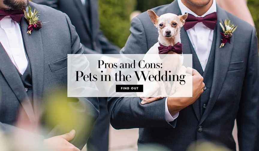 The perks and drawbacks of adding your furry (or not-so-furry) friends into your big day.