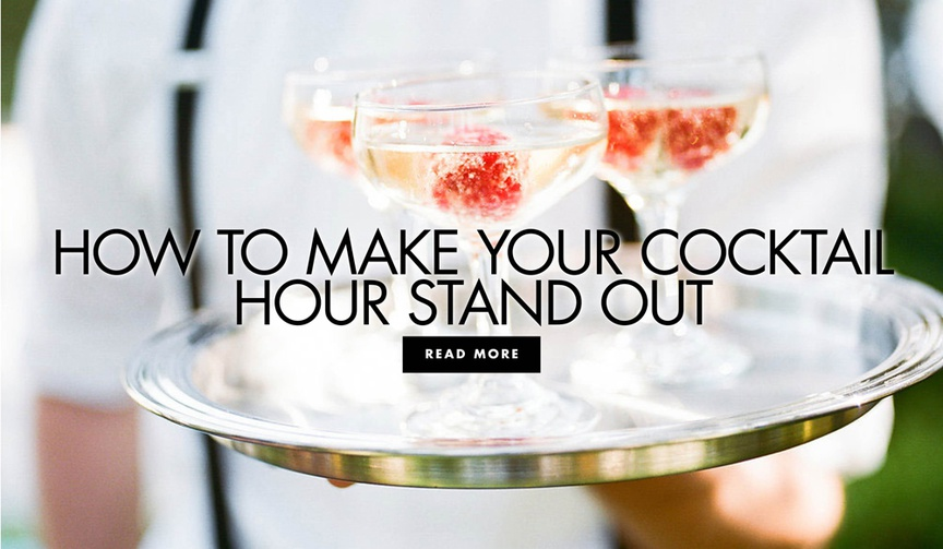 how to make your cocktail hour stand out