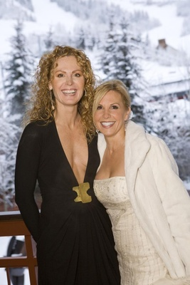 Bride and business partner in Aspen