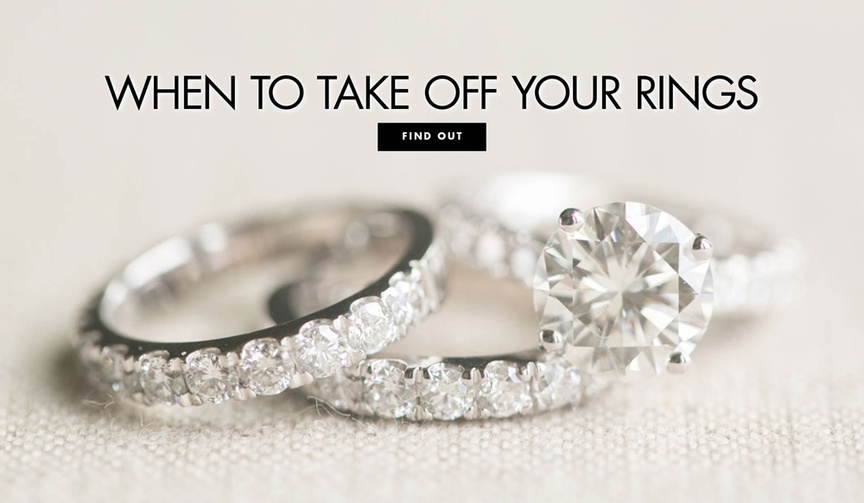 How to know when not to wear your wedding ring when you should remove your engagement ring